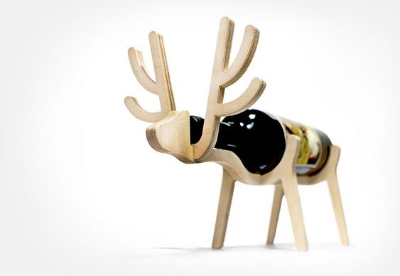 Suporte para vinhos - animal