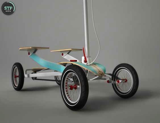 Patinete com pedal
