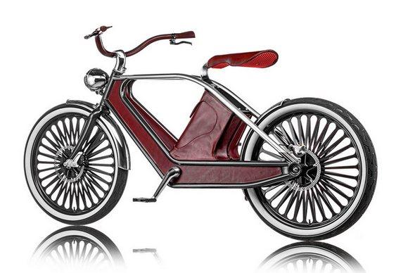 Bicicleta em estilo retrô