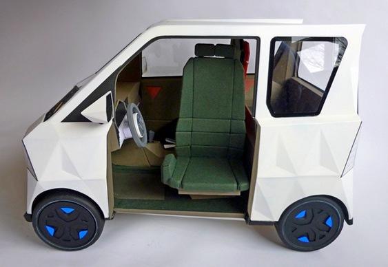 Automóvel super mini elétrico