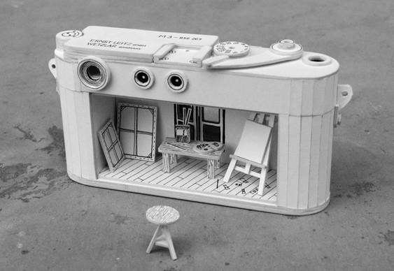 Câmera de fotos de papelão