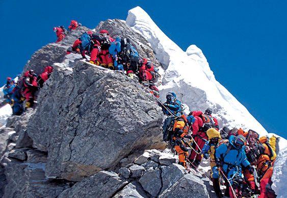 Avalanche na montanha