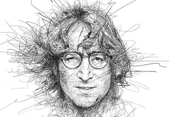 Retrato de John Lennon