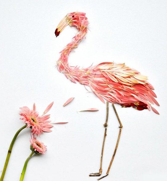 Flamingo de flores