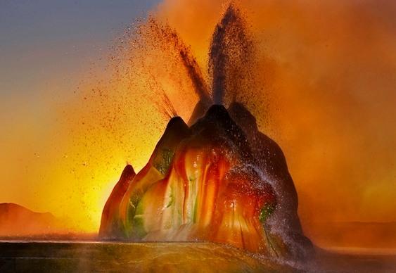 Gêiser colorido