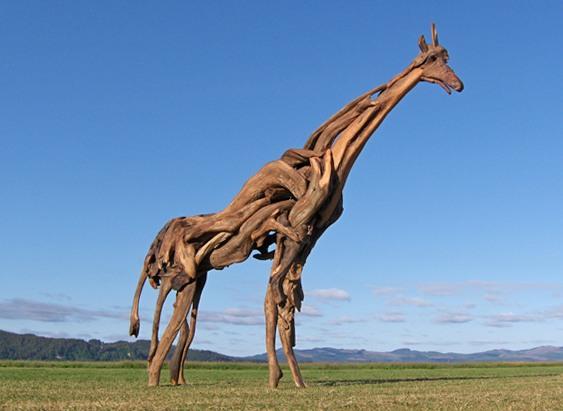 Escultura animal selvagem