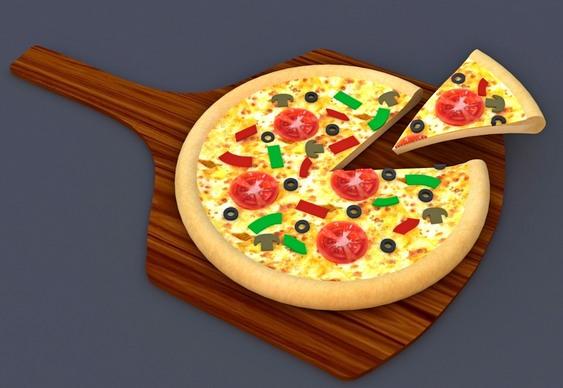 Painel 3D para pizzaria