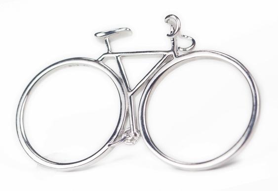 Anel bike prata