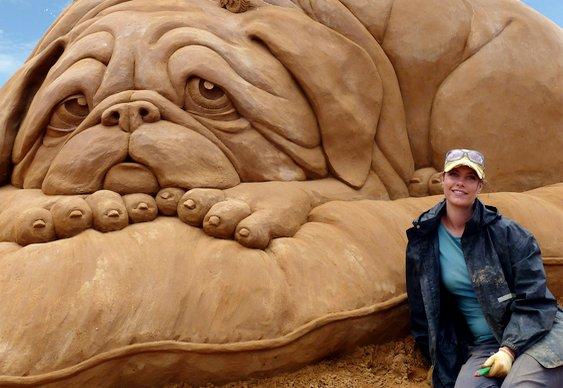Escultura de cão