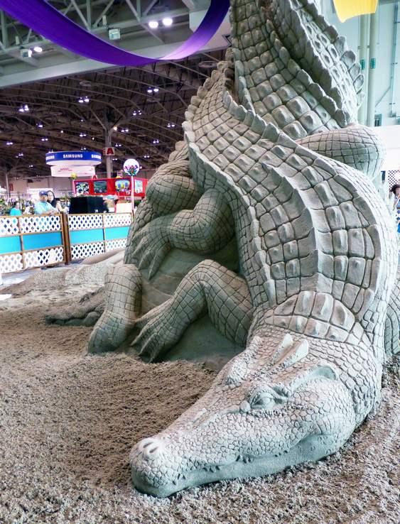 Escultura de crocodilos