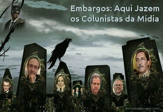 Charge - Cemitério de Jornalistas