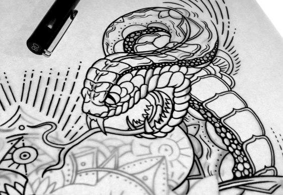 Desenhos de tattoo na decoração