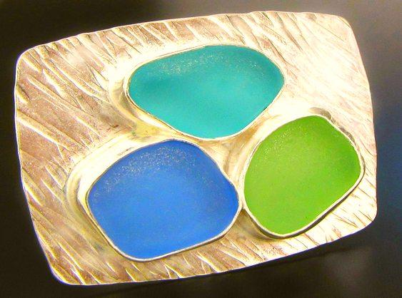 Joias de vidro colorido