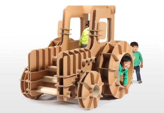 Brinquedo infantil reciclável