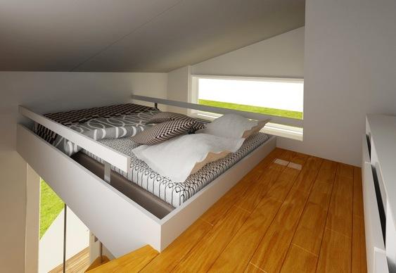 Projeto De Casa Compacta E Barata Em Dois Andares Para