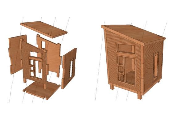 Projeto barato de casa pré-moldada