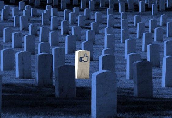 Facebook no cemitério