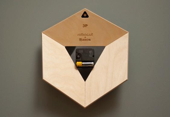 Relógio de parede cubo 3D