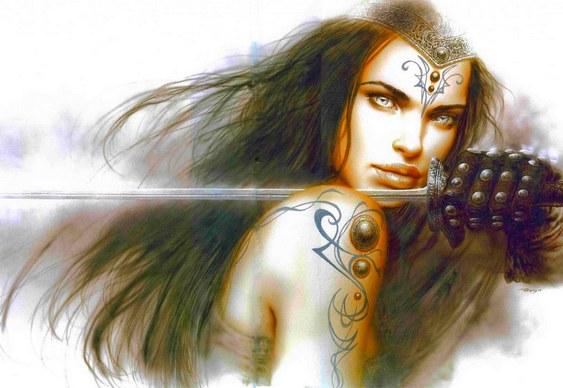 Mulher com espada