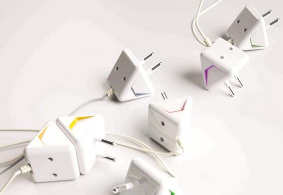 Tê adaptador de tomadas elétricas
