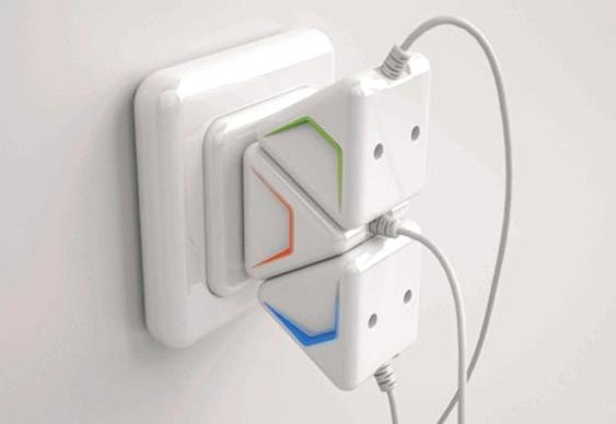 T adaptador de tomadas elétricas
