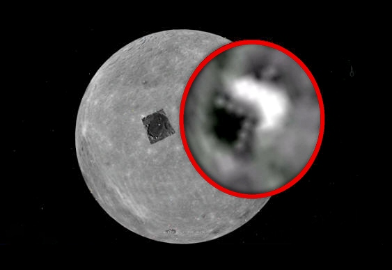 Base alienígena lado escuro da Lua