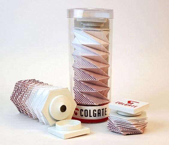 Tubo dentifrício origami