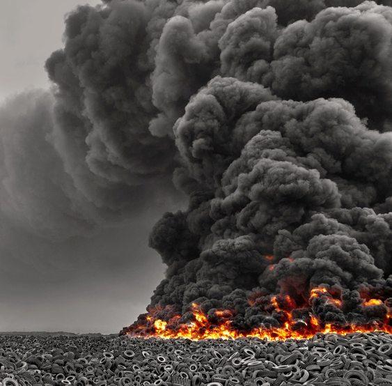 Incêndio de pneus