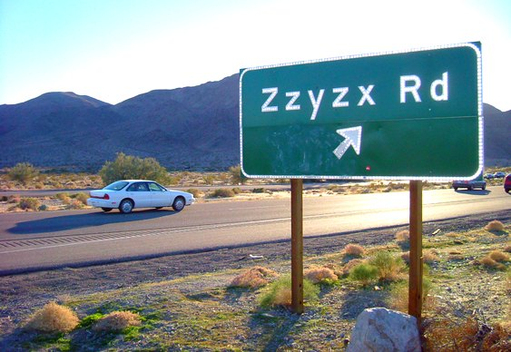 Zzyzx name baby