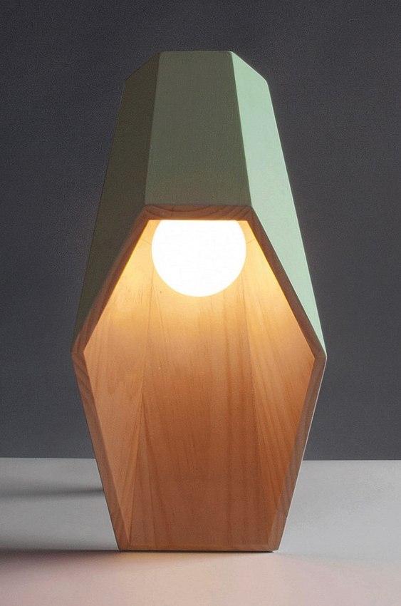 Cúpula de madeira para abajur