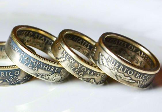 Artesanato com moedas fora de circulação