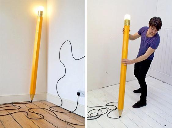 Luminária de madeira para parede