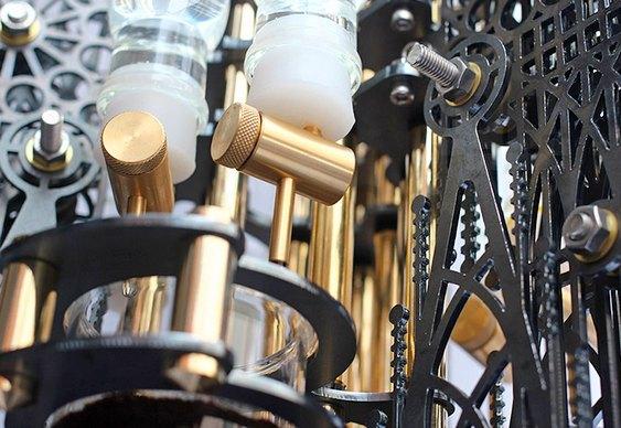 Engrenagens mecânicas de cafeteira