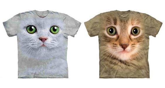 Gatos estampados em roupas