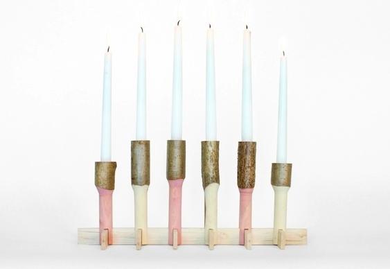 Castiçais artesanais para velas