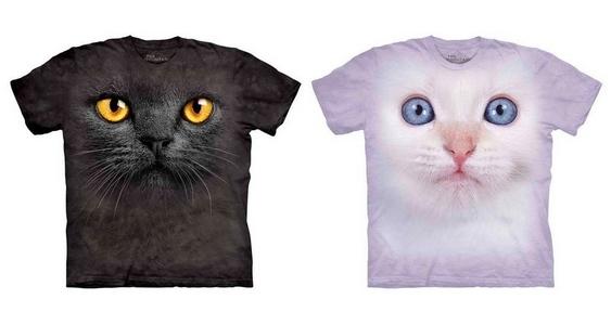 Roupas estampadas com gatos