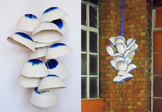 Lustres de flores em penca