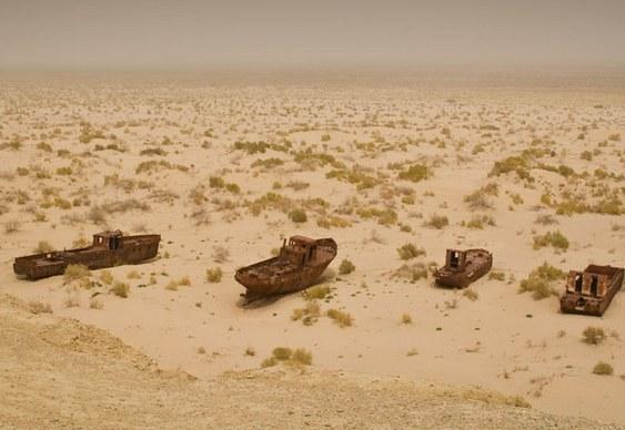 Mar de Aral seca totalmente