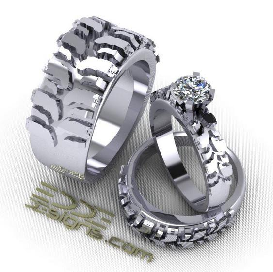 Anel pneu com solitário de diamante