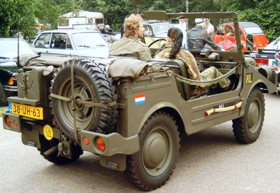 Jipe militar restaurado