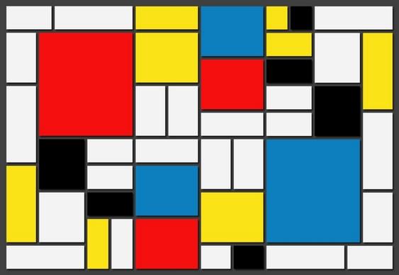 Tela do pintor Piet Mondrian