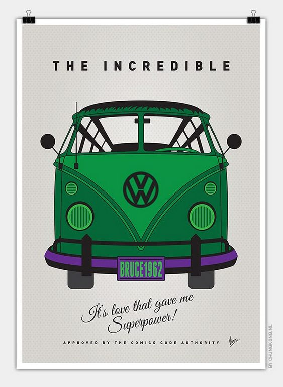 VW Bus Incredible Hulk