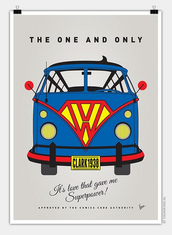 VW Bus Superman