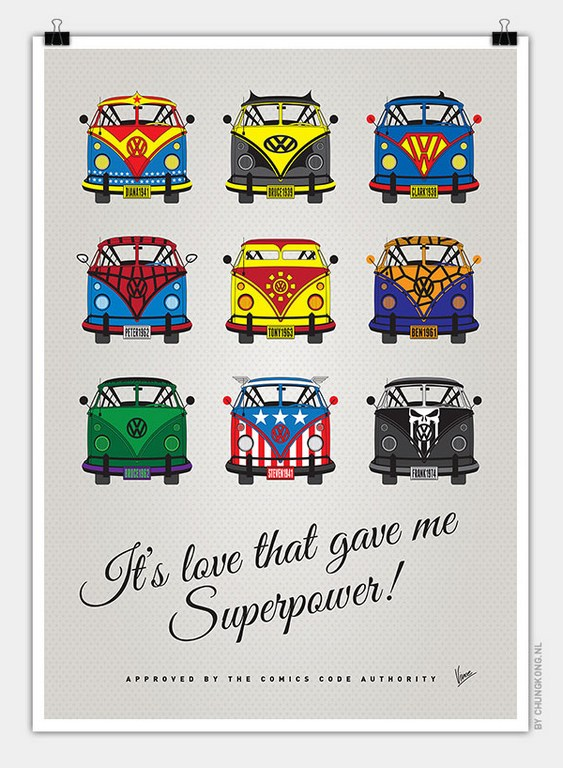 VW Bus Superheroes