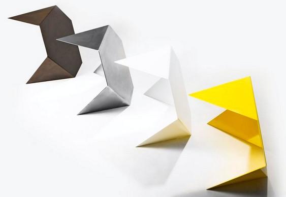 Chapas coloridas de metal