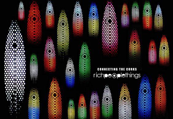 Luminárias com pranchas de surf
