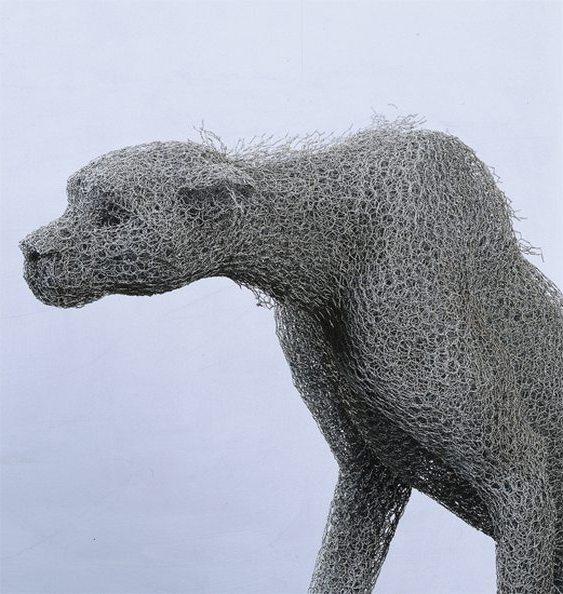 Escultura de guepardo