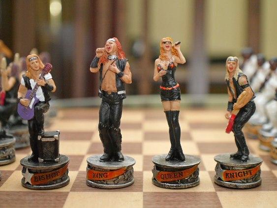 Rei e Rainha do rock no xadrez