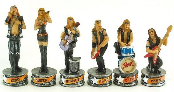 Banda de rock no Xadrez