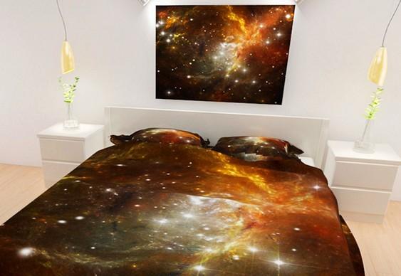 Lençóis e fronhas com estrelas